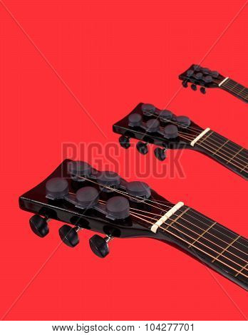 Acoustic guitars heads necks
