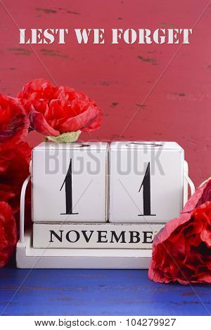 Remember, Armistice And Veterans Day Calendar
