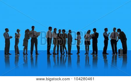 Business People Discussion Brainstorming Meeting Concept