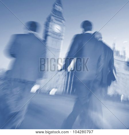 Business People Walking Commuter Big Ben Concept