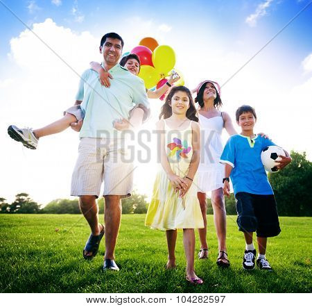 Family Activity Outdoors Picnic Relaxation Concept