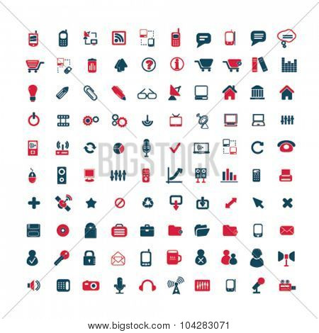 communication, connection, technology icons