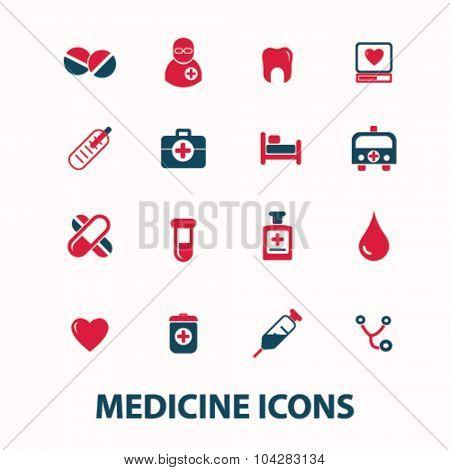 medicine, health care icons