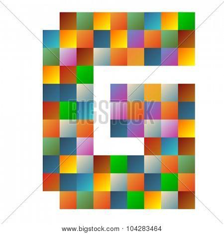 G, Golf letter rainbow colorful sparkling vector illustration
