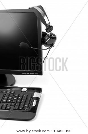Computer With Voip Headset