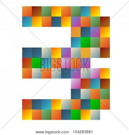three rainbow colorful sparkling vector illustration