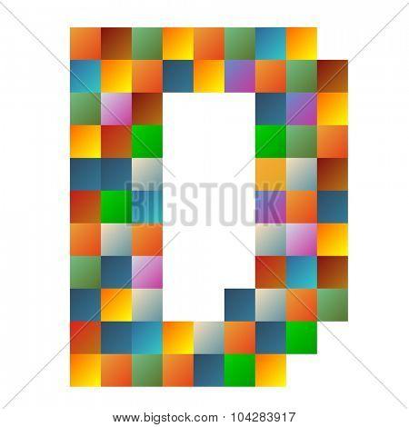 Delta letter rainbow colorful sparkling vector illustration