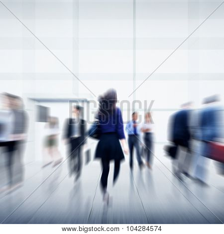 Business People City Life Hustle Hurry Occupation Concept