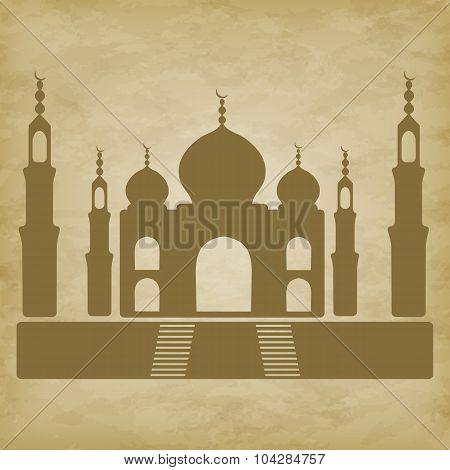 Taj Mahal On Grunge Background