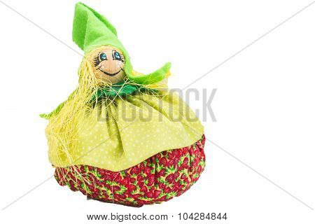 Pincushion Doll Fabric. Decoration For Child's Bedroom.