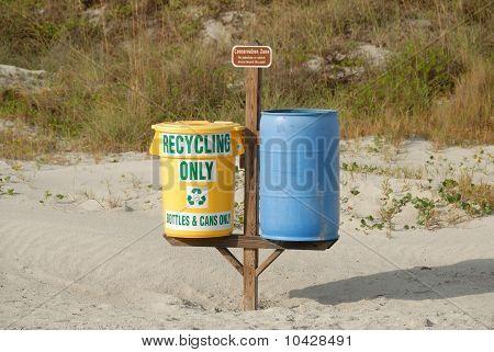 recyling bins