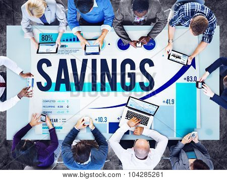 Savings Money Investment Finance Accounting Concept