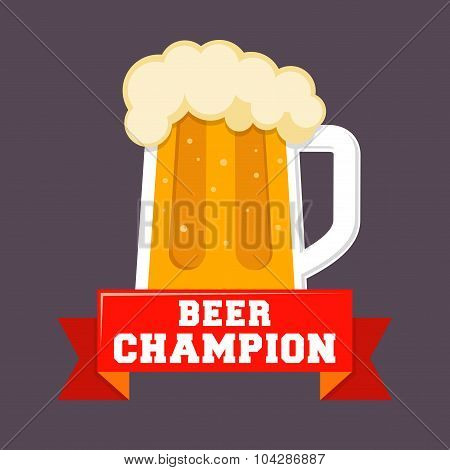 Beer Champion Logo Icon