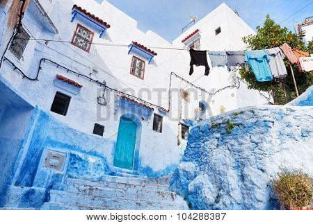 Old house in medina, Chefchaouen, Morocco