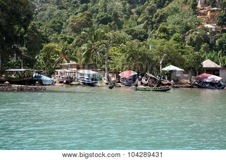 LABADEE, HAITI - SEPTEMBER 27, 2015: Typical Homes of the local residents of Labadee, Haiti. September 27, 2015