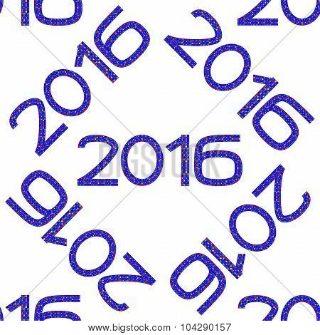 Seamless Pattern With Numbers Of Year 2016
