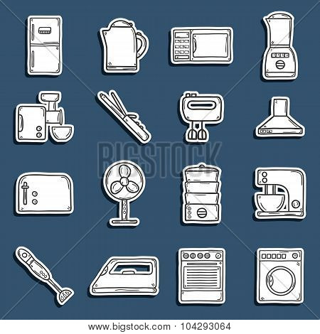 Home appliance stickers
