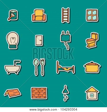 Home remodeling stickers
