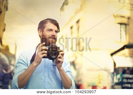 Professional photographer taking a picture