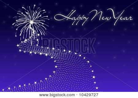 Happy New Year On Blue