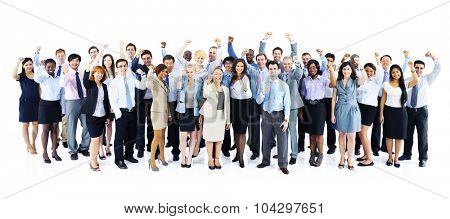 Business People Celebrating Collaboration Team Concept