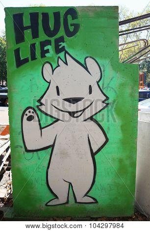 Mural art at Houston Avenue in Soho