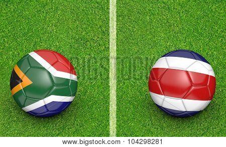 Team balls for South Africa vs Costa Rica soccer tournament match
