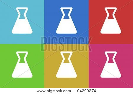 laboratory flat design modern vector icons colorful set for web and mobile app