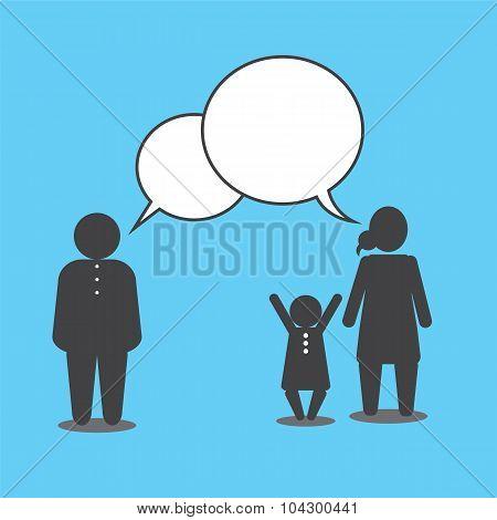 Family Talking.