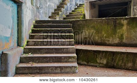 Concrete Bunker Steps Left