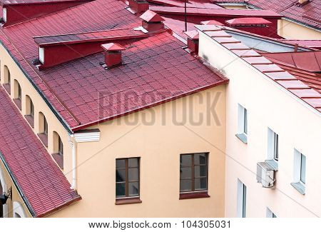 New Red Metal Tiled Roof