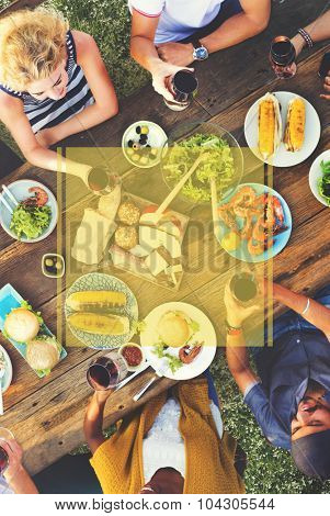 Copy Space Frame Summer Vacation Holiday Concept