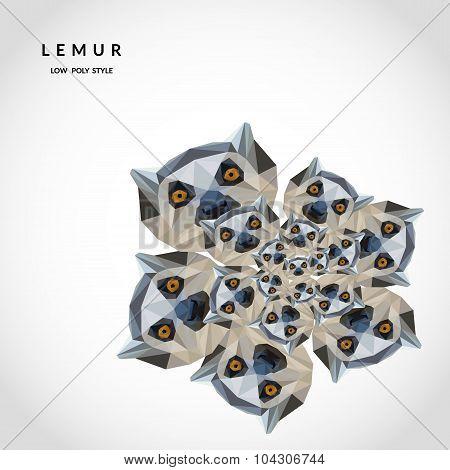 Lemurs Low Poly Style