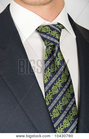 Closeup Businessman Suit