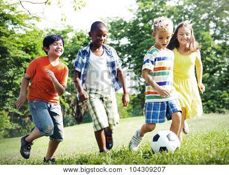 Child Childhood Children Happiness Togetherness Concept
