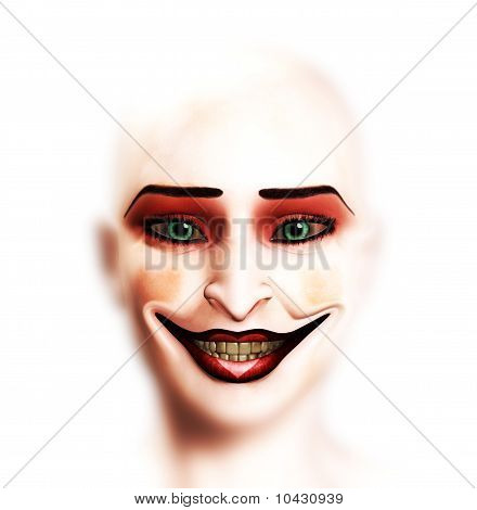 Female Clown Face