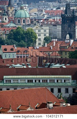 Prague Cityscape From The Walls Of Prague Castle