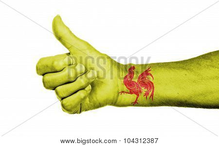 Old Woman With Arthritis Giving The Thumbs Up Sign