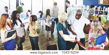 College Students Analysing Education Concept