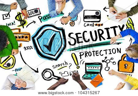Ethnicity People Conference Discussion Security Protection Concept