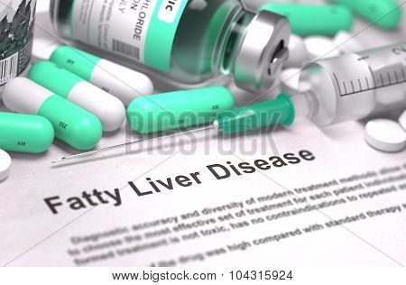 Fatty Liver Disease Diagnosis. Medical Concept.