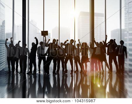 Business People Celebration Success Corporate Concept