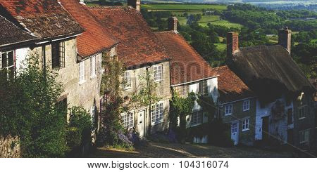 Home Rural Scene House British Culture Destination Travel Concept
