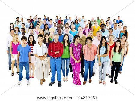 Diversity Large Group of People Multiethnic Concept