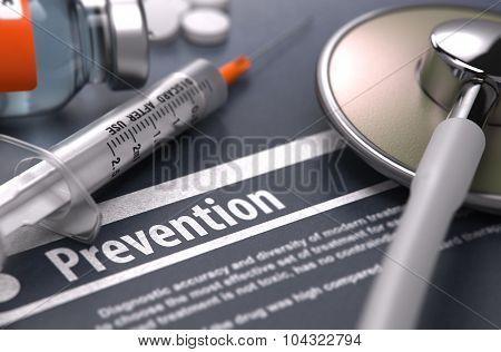 Prevention. Medical Concept.