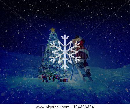 Snow Winter Snowflake Blizzard Christmas Concept