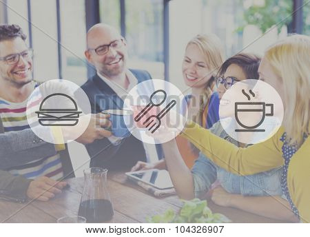 Meal Lunch Breakfast Fastfood Hamburger Concept