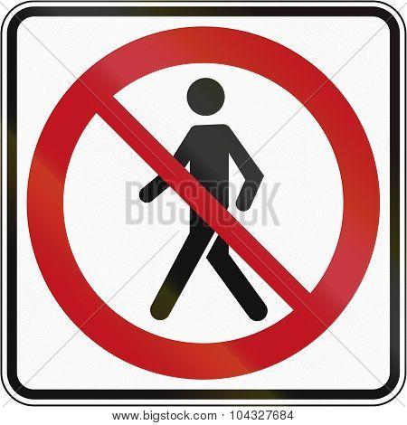 No Pedestrians In Canada