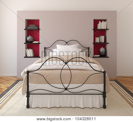 Bedroom Interior. 3d rendering.
