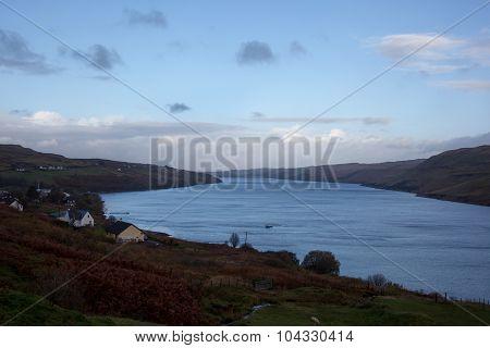 Loch And Small Bridge On Isle Of Skye, Scotland
